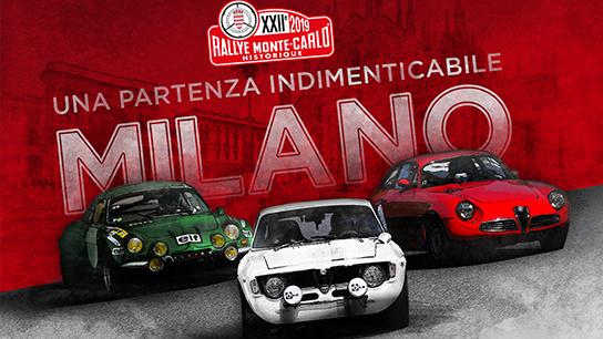 XXII° Rallye Monte-Carlo Historique: Milan departure